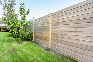 Afsluiting tuin hout